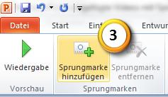 PowerPoint 2010: Sprungmarken in Videos hinzufügen, Schritt 3