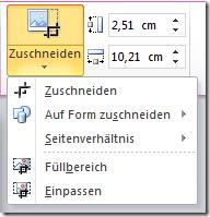 PowerPoint 2010: Zuschneiden