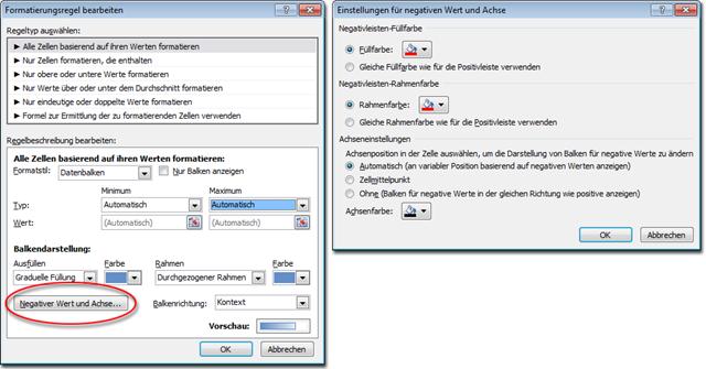 Excel 2010: Dialogfeld Formatierungsregeln bearbeiten