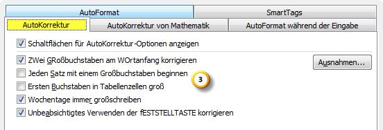 AutoKorrektur-Einstellungen in Outlook 2010 optimieren Teil 2