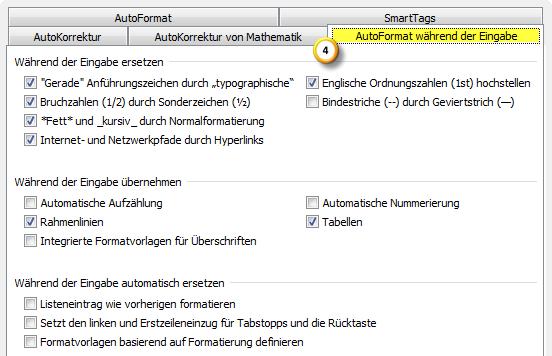 AutoKorrektur-Einstellungen in Outlook 2010 optimieren Teil 3