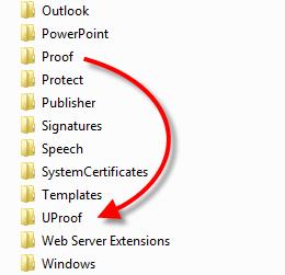 Office 2010: Neuer Speicherort der Benutzerwörterbücher