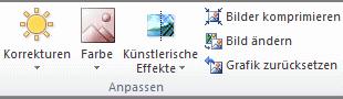 Office 2010: Die Befehlsgruppe Anpassen
