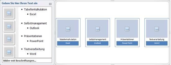 """PowerPoint 2010: Neue SmartArt-Grafik """"Bilder mit Beschriftungen"""""""