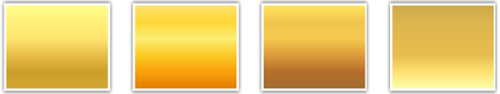 Vorgefertigte Farbverläufe für PowerPoint 2007 und 2010: Beispiel Gold