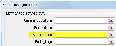 Excel 2010: Das Dialogfeld der neuen Funktion NETTOARBEITSTAGE.INTL