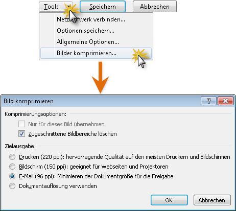Office 2010 Fuer Dateien die Bildkomprimierung aktivieren