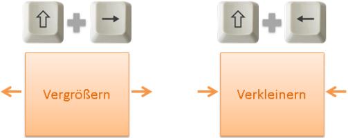 Nützliche Tasten beim Umgang mit Objekten in Office_2010