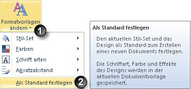 Word 2010: Standard-Design festlegen