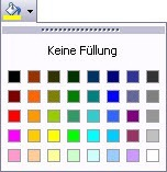 Excel 2003 Farbauswahl